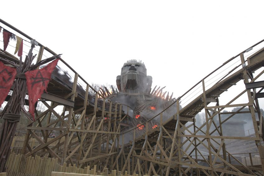 Main character central to Wicker Man roller coaster at Alton Towers