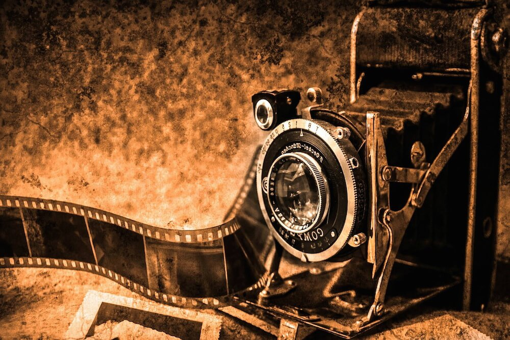 Retro camera and film.