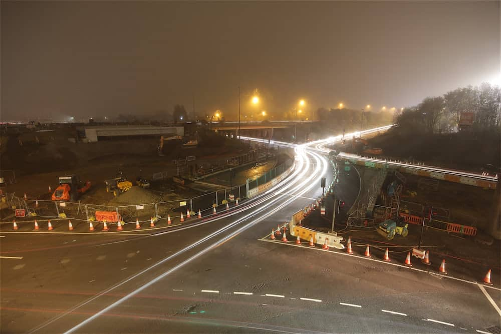 A foggy evening at Coast Road Junction.