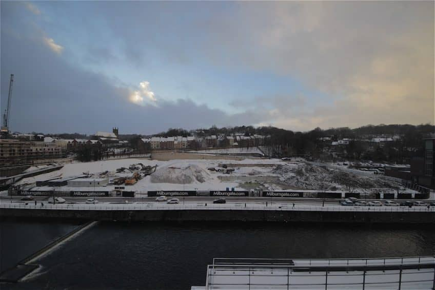 A dusting of snow at Milburngate.