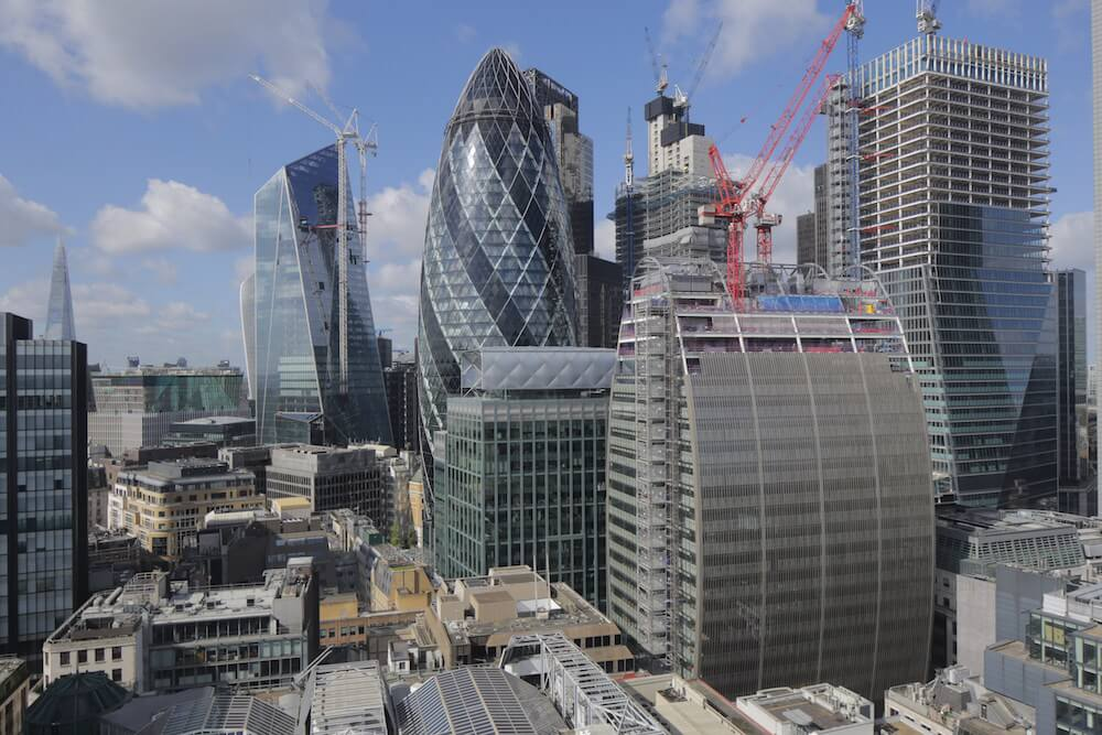 Can of Ham skyscaper under construction in London's financial district