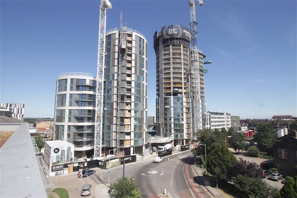 Time-lapse construction of residential project, 360 Barking.