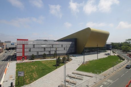 A newly completed Hull Venue (aka Bonus Arena) after Hull's UK City of Culture year in 2017
