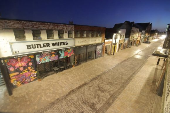 Humber Street at night.