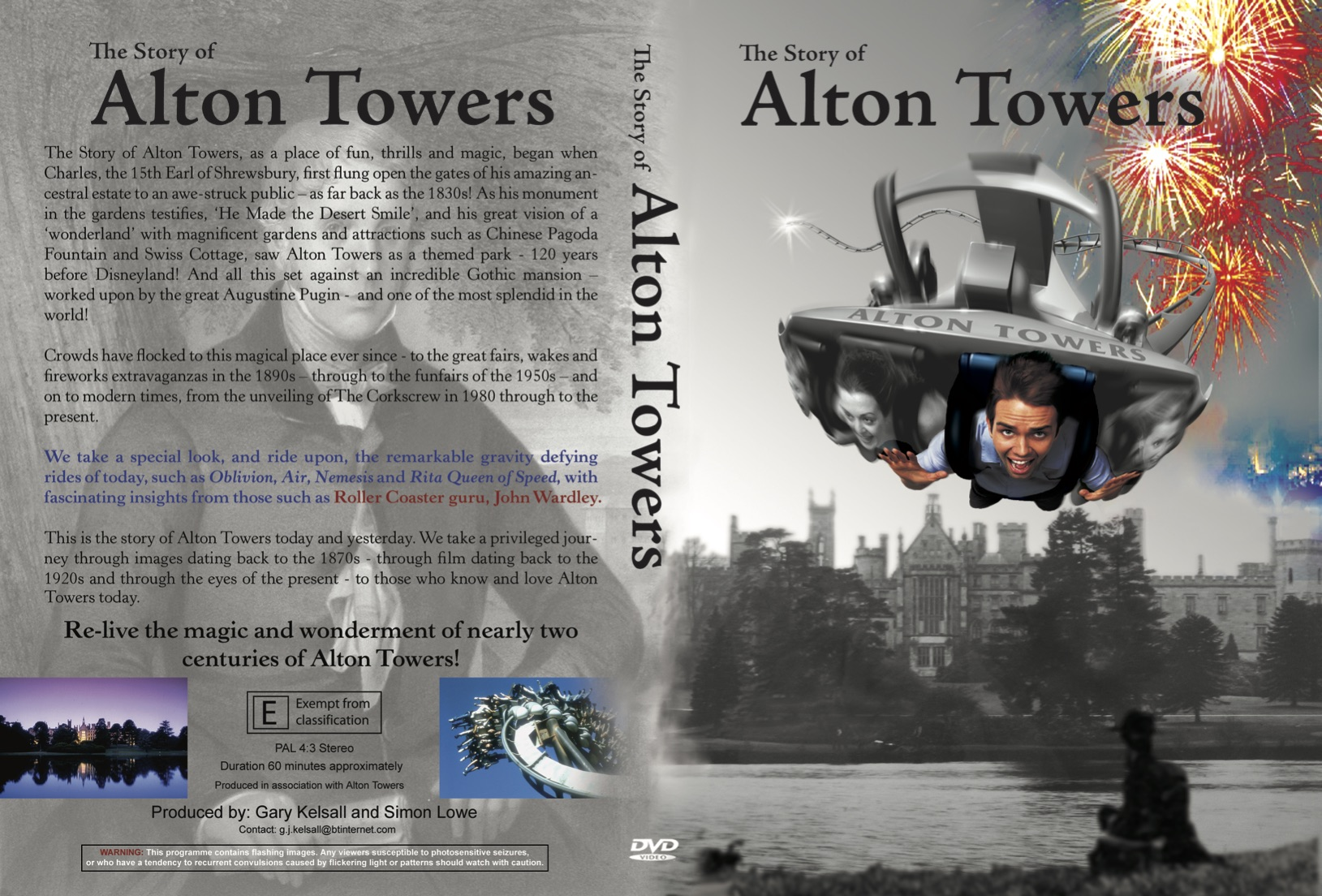 DVD Sleeve for 'The Story of Alton Towers'