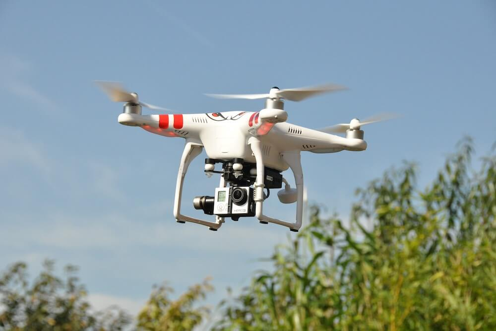 Drones over environmental waste works