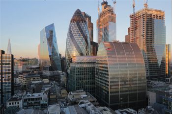 Time-lapse image from the City of London focusing on construction of Can of Ham office building for Mace