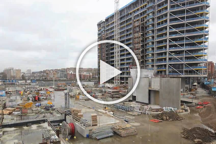St James Riverside Construction Time-Lapse Video