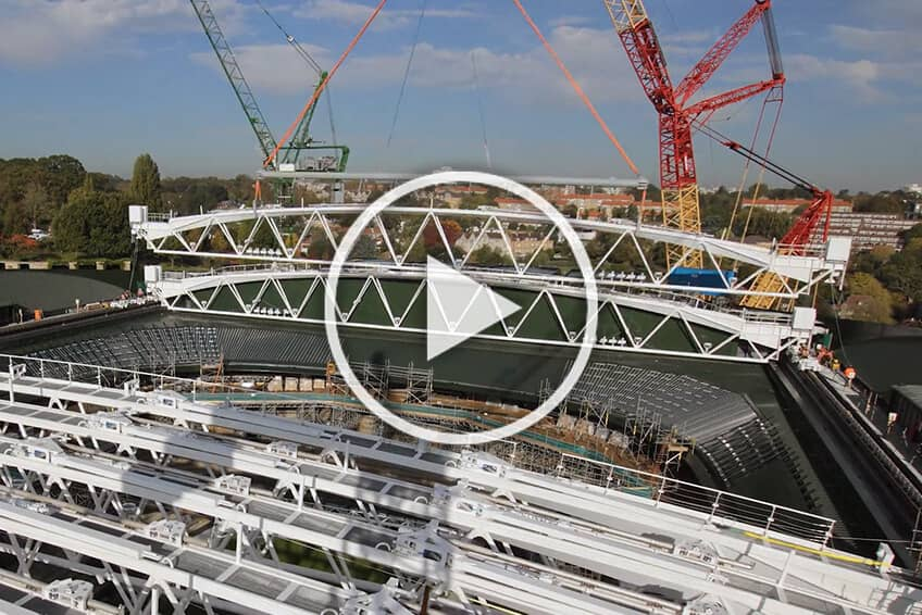 Wimbledon Construction Time-Lapse Video