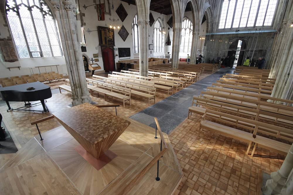 Completion of fit-out renovation construction works at St Thomas's Church, Salisbury